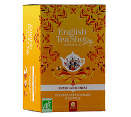 Rooibos vert bio Grenade Myrtille - 20 sachets - English Tea Shop