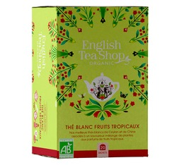 English Tea Shop Organic White Tea & Tropical Fruits - 20 sachets