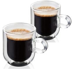 2 verres à anse double paroi Espresso 7.5cl - JUDGE
