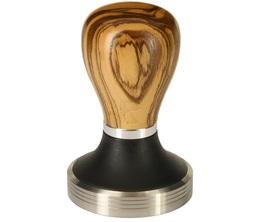Tamper Pullman 58,3mm base inox manche bois olivier