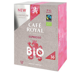 Café Royal 'Espresso Bio' Organic & Fairtrade aluminium capsules for Nespresso x36