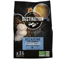 Destination 'Deca' decaffeinated organic coffee pods for Senseo x 36