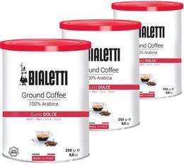 Café moulu 100% Arabica - 3x250g - Bialetti