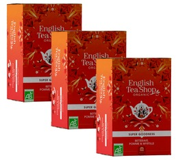 Pack Infusion Bio Betterave, Pomme, Myrtille - 3 x 20 sachets - English Tea Shop