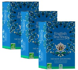 Pack Thé noir Bio Darjeeling 3x20 sachets - English Tea Shop