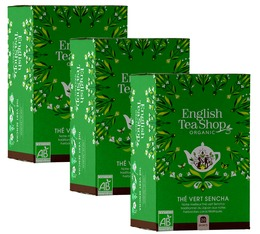 Pack Thé vert Sencha Bio - 3x20 sachets - English Tea Shop