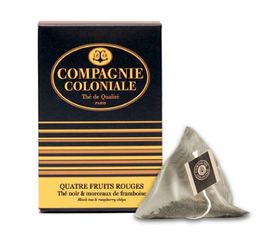Quatre Fruits Rouges flavoured black tea - 25 pyramid bags -  Compagnie Coloniale