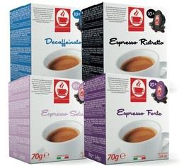 Pack découverte - 40 capsules compatibles Lavazza a Modo Mio® (Deca, Seta 100% Arabica, Ristretto, Forte)
