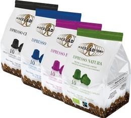 Pack découverte Miscela d'Oro - 40 capsules pour Nespresso