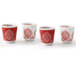 Lot de 4 tasses Bicchierini 9cl Collection Centenaire - Bialetti