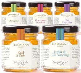 Tube de 5 mini pots Gelées de thé (5x50gr) - Dammann