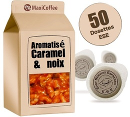 Dosette café aromatisé  caramel et noix x 50 dosettes ESE