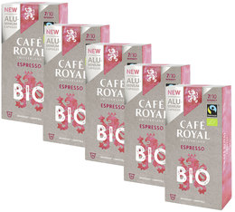 Café Royal 'Espresso Bio' Organic & Fairtrade aluminium capsules for Nespresso x50