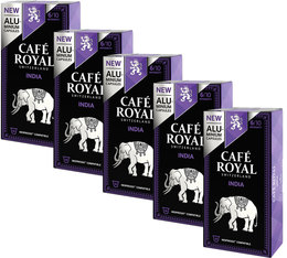 Café Royal 'India' aluminium capsules for Nespresso x50
