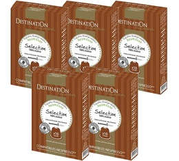 Pack Capsules compatibles Nespresso® Biospresso Sélection 5 x 10 Destination