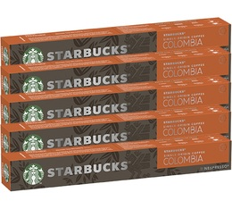 Pack Starbucks Colombia compatibles Nespresso® - 5 x 10 capsules