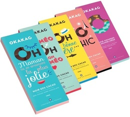 Pack de 5 tablettes de chocolat noir 65% cacao - 5x100g - Okakao