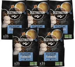 Destination organic decaffeinated coffee soft pods Senseo x 180