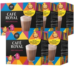 Pack Capsules Nescafe® Dolce Gusto® compatibles Café Royal Kids chocolate 5 x 16