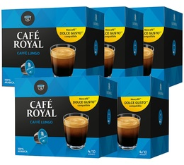 Pack Capsules Nescafe® Dolce Gusto® compatibles Café Royal Lungo 5 x 16