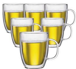 6 verres BODUM BISTRO 45cl (avec anse)