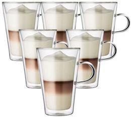 6 verres BODUM CANTEEN 40cl (avec anse)