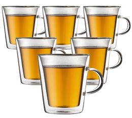 6 verres BODUM CANTEEN 20cl (avec anse)