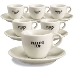 6 tasses à café en porcelaine - Pellini Top