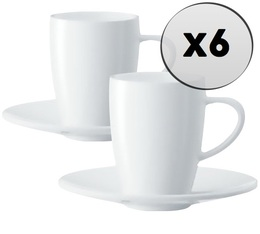 6 tasses et sous-tasses espresso 8,5cl - Jura