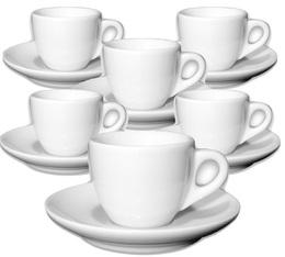 6 tasses expresso et sous-tasses porcelaine 7,5 cl Verona - Ancap