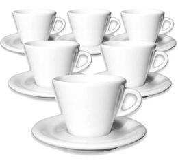 6 tasses cappuccino et sous-tasses 19 cl porcelaine Favorita - Ancap