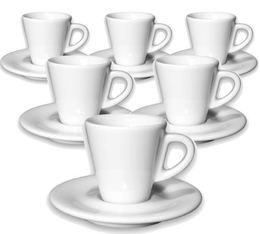 6 tasses espresso et sous-tasses 7 cl porcelaine Favorita - Ancap