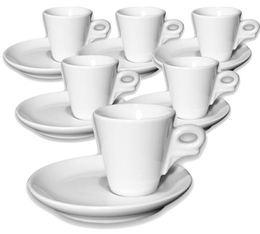 6 tasses expresso et sous-tasses porcelaine 7 cl  Giotto - Ancap