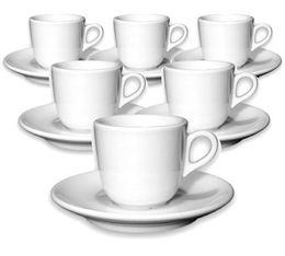 6 tasses espresso et sous-tasses 7 cl porcelaine Jolly - Ancap