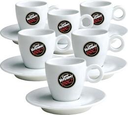 6 tasses et sous-tasses expresso Caffè Vergnano