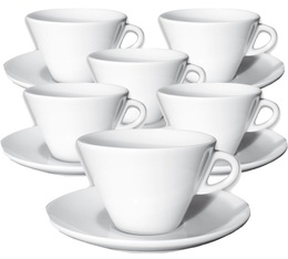 6 tasses Latte Art et sous-tasses 26 cl Favorita - Ancap