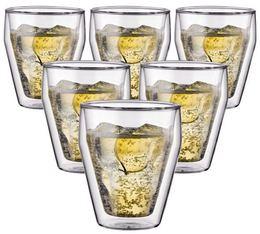 6 verres double paroi BODUM TITLIS 25cl