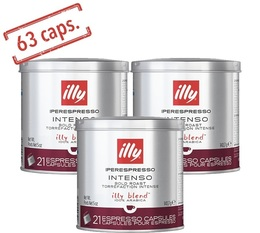 63 x Illy Iperespresso Intenso coffee capsules