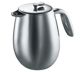 Bodum Columbia French Press Double-Wall Brushed Stainless Steel - 1.5L
