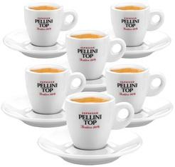 6 tasses et sous tasses à café en porcelaine - 6 cl - PELLINI TOP