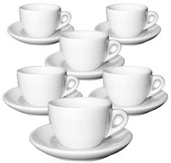 6 tasses cappuccino et sous-tasses porcelaine Verona 19cl - Ancap