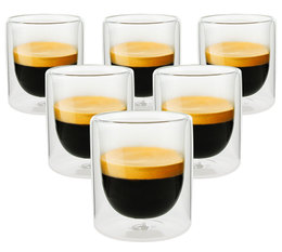 PYLANO set of 6 'Mila' double wall espresso glasses - 100ml