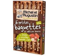 Baguettes de sablés pur beurre au chocolat au lait et noisettes - Michel et Augustin