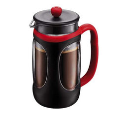 Cafeti re piston bodum 1l young press noire et rouge 1 l - Utilisation cafetiere a piston ...