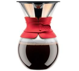 Cafetière filtre Bodum Pour Over rouge - 8 tasses
