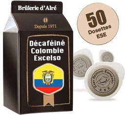 Colombia Excelso Decaffeinated ESE pods x 50 - Brûlerie d'Alré