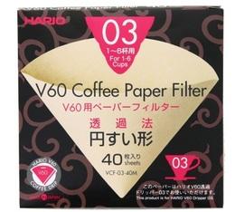 Filtres pour V60 Dripper 1/6 Tasses X40