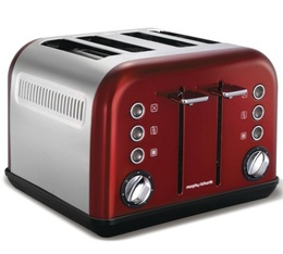 Grille-pain Accents Refresh Rouge 4 tranches Morphy Richards