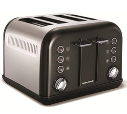 Toaster Accents Refresh Noir 4 tranches - Morphy Richards