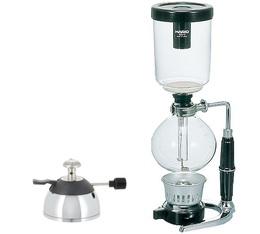 Cafetière à dépression Hario Technica TCA-5  5 tasses + Micro brûleur butane Rekrow